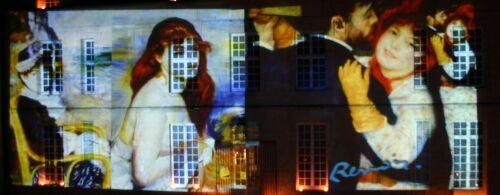 extrait projection lors de la nuit des muses en 2008 sur la facade du chteau dauvers - Chateau D Auvers Mariage
