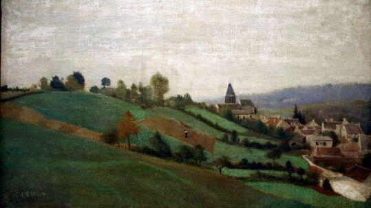 COROT - corot - Camille COROT - Jean Baptiste Camille COROT -  Le village de Presles